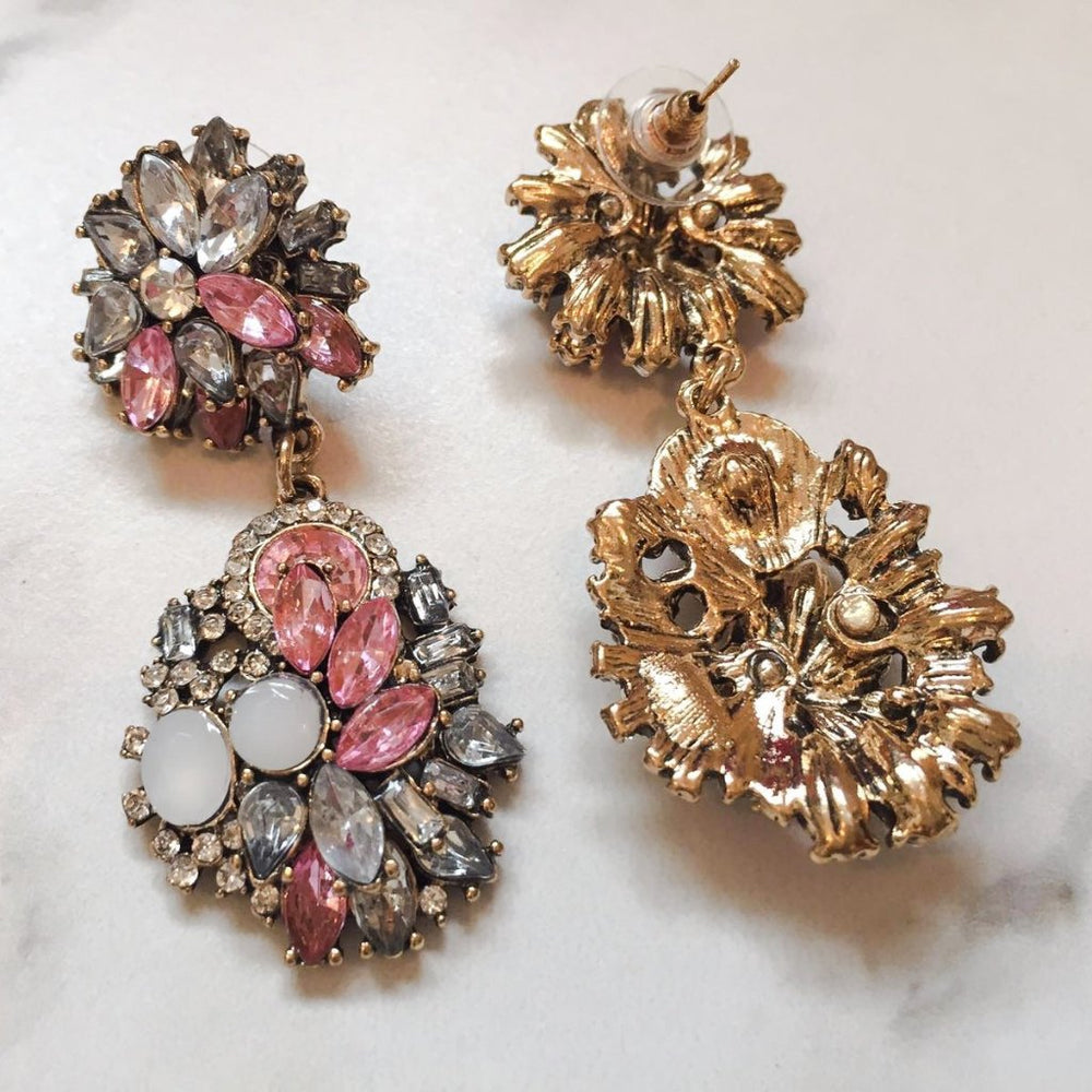 ANA Pink Rhinestone Earrings