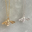 Ladies gold and silver bee necklace