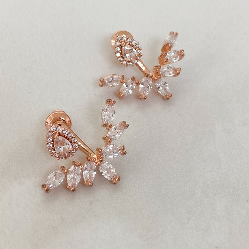 DEMI Statement Ear Jackets (Rose Gold & Silver)