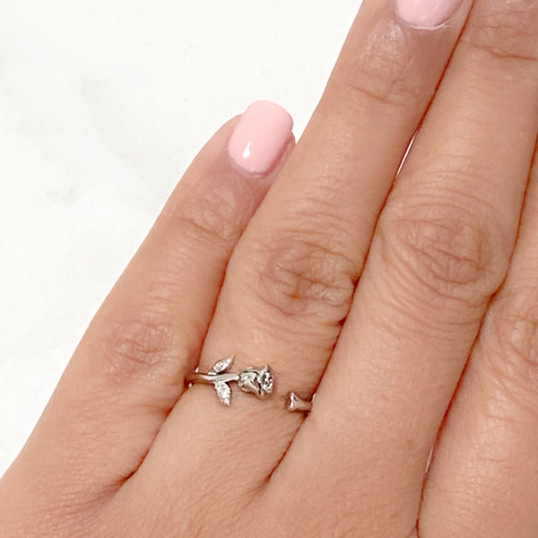 INFINITY Rose Sterling Silver Ring