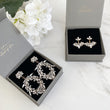 ELLA Rhinestone Stud Earrings (Clear & Black)