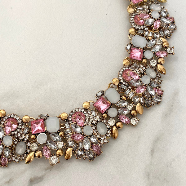ALISSA Pink Statement Necklace