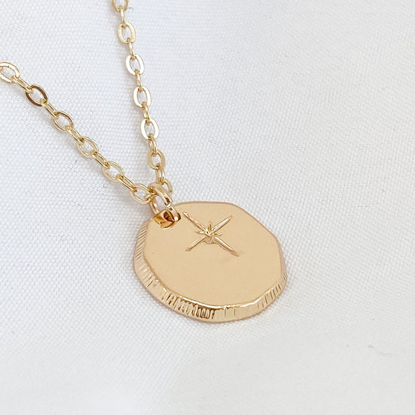 Gold Star Irregular Pendant Necklace