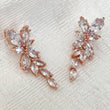 Rose gold petal earrings perfect for bridal jewellery and weddings