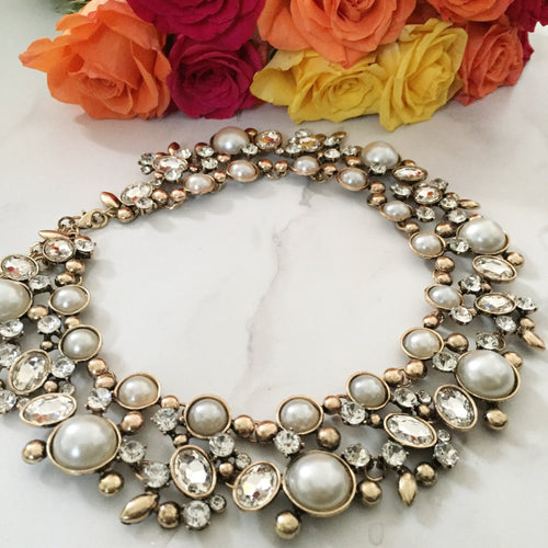 PARISA Pearl Statement Necklace