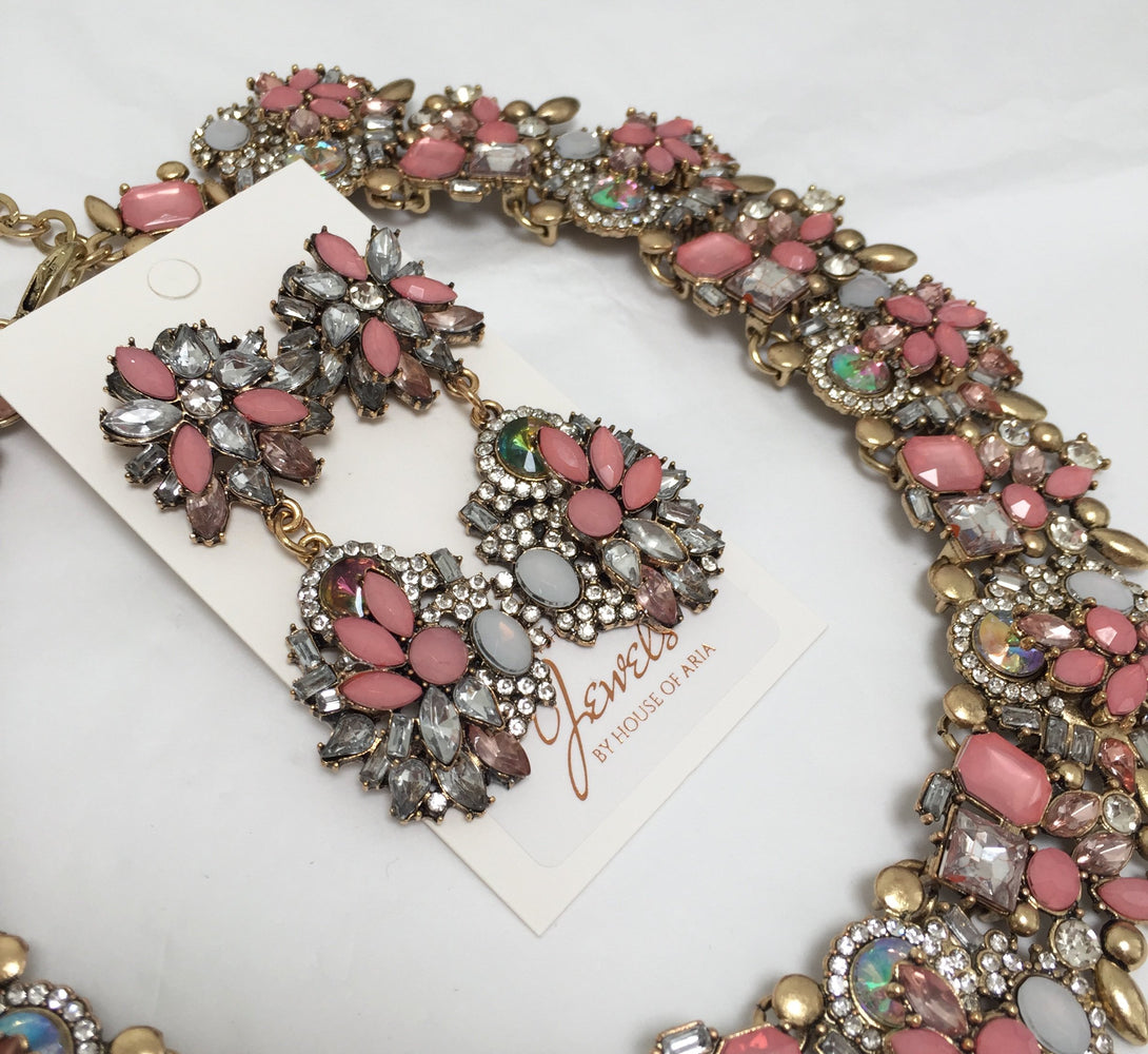 DELIA Pink Statement Earrings