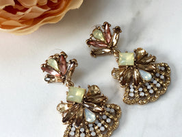 RUMI Bronze Colourful Rhinestone Earrings