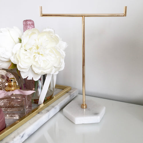 Marble Jewellery Tree Stand (Gold, Silver, Rose Gold)