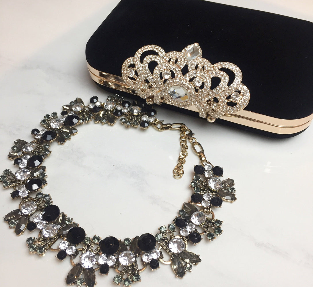 ANIYA Black Statement Necklace