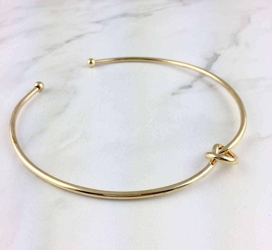 Knot Choker Necklace (Gold & Silver)