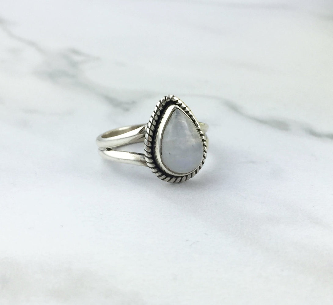 LUA Moonstone Silver Ring