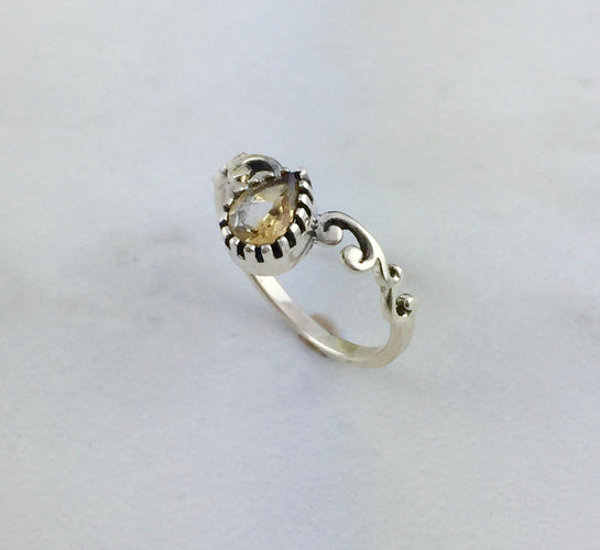 CYRUS Citrine Sterling Silver Ring