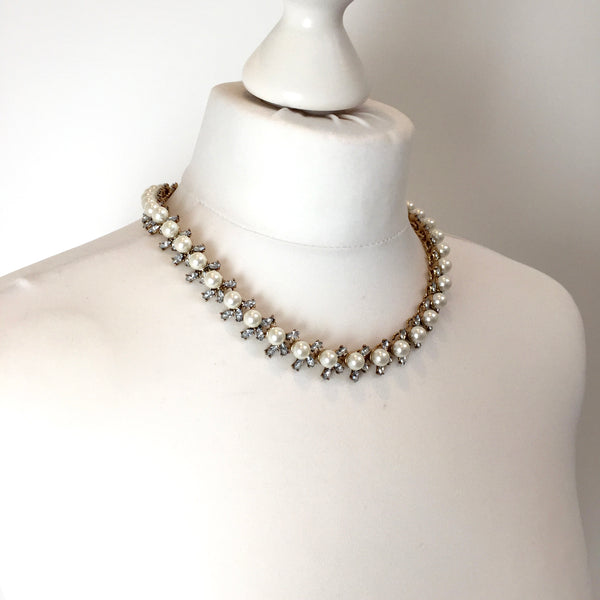 PURA Pearl & Rhinestone Necklace