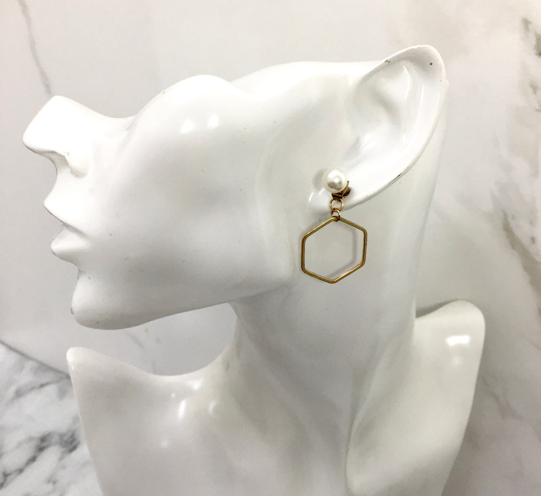 MILA Gold Geometric Ear Jackets