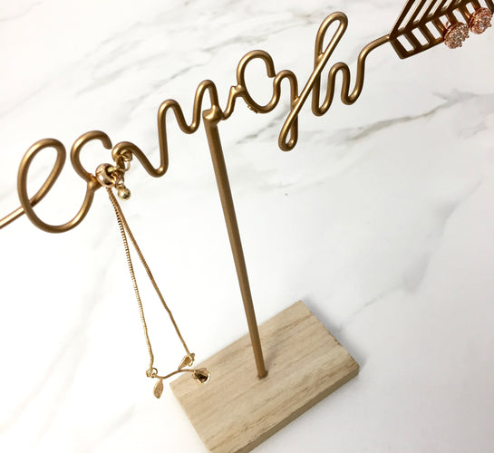 Gold Jewellery Stand - Live, Love, Laugh