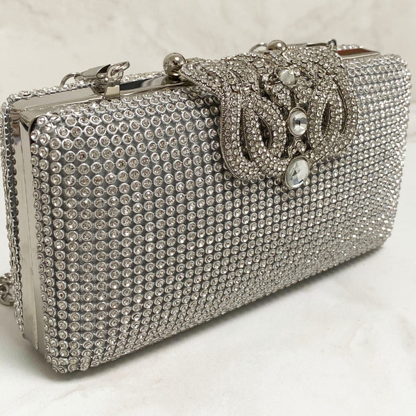VIENNA Sparkle Clutch Bag Gold / Silver