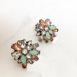 JENA Pastel & Mint Green Rhinestone Stud Earrings