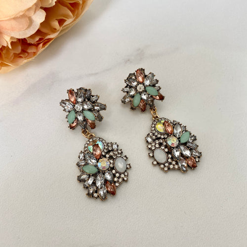 JENA Pastel Rhinestone Earrings