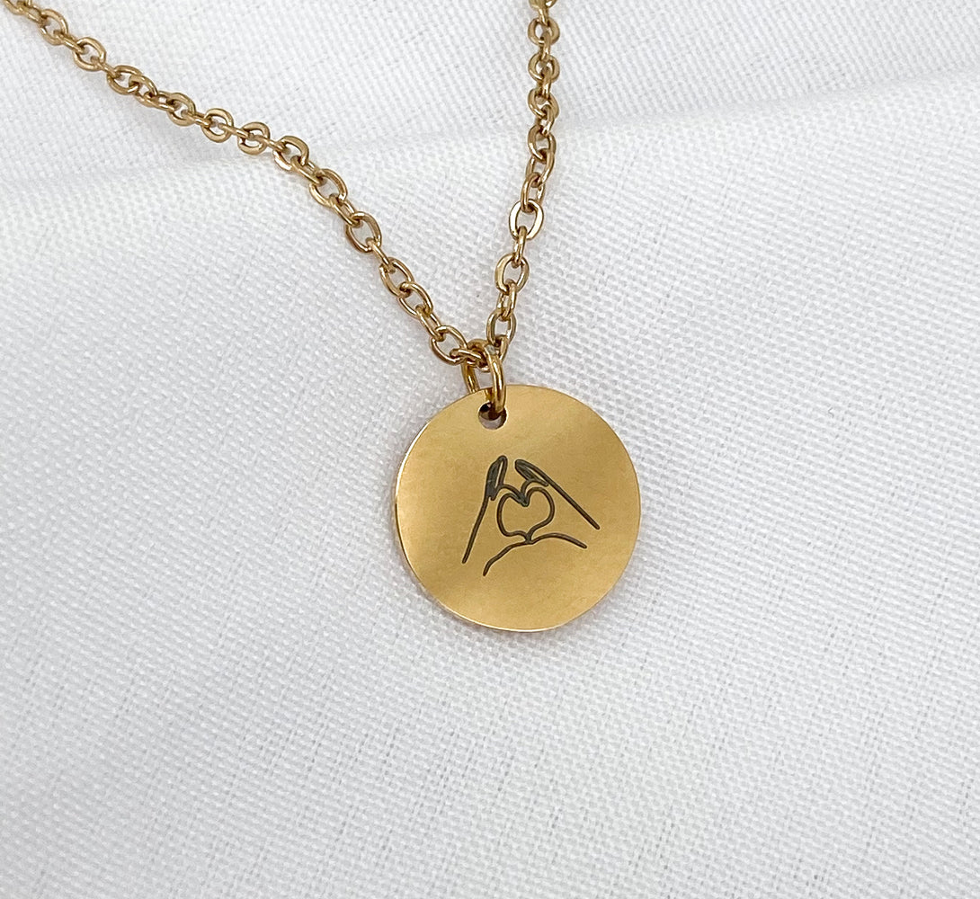 Love Pendant Necklace ( 14k Gold/Silver / Rose Gold)