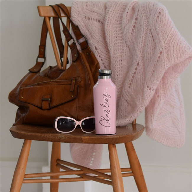 Personalised Pink Water Bottle