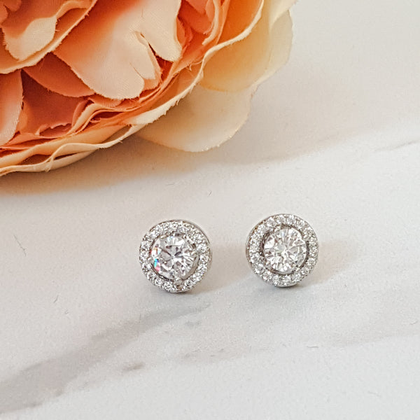 LYLA Rose Gold / Platinum Plated Stud Earrings