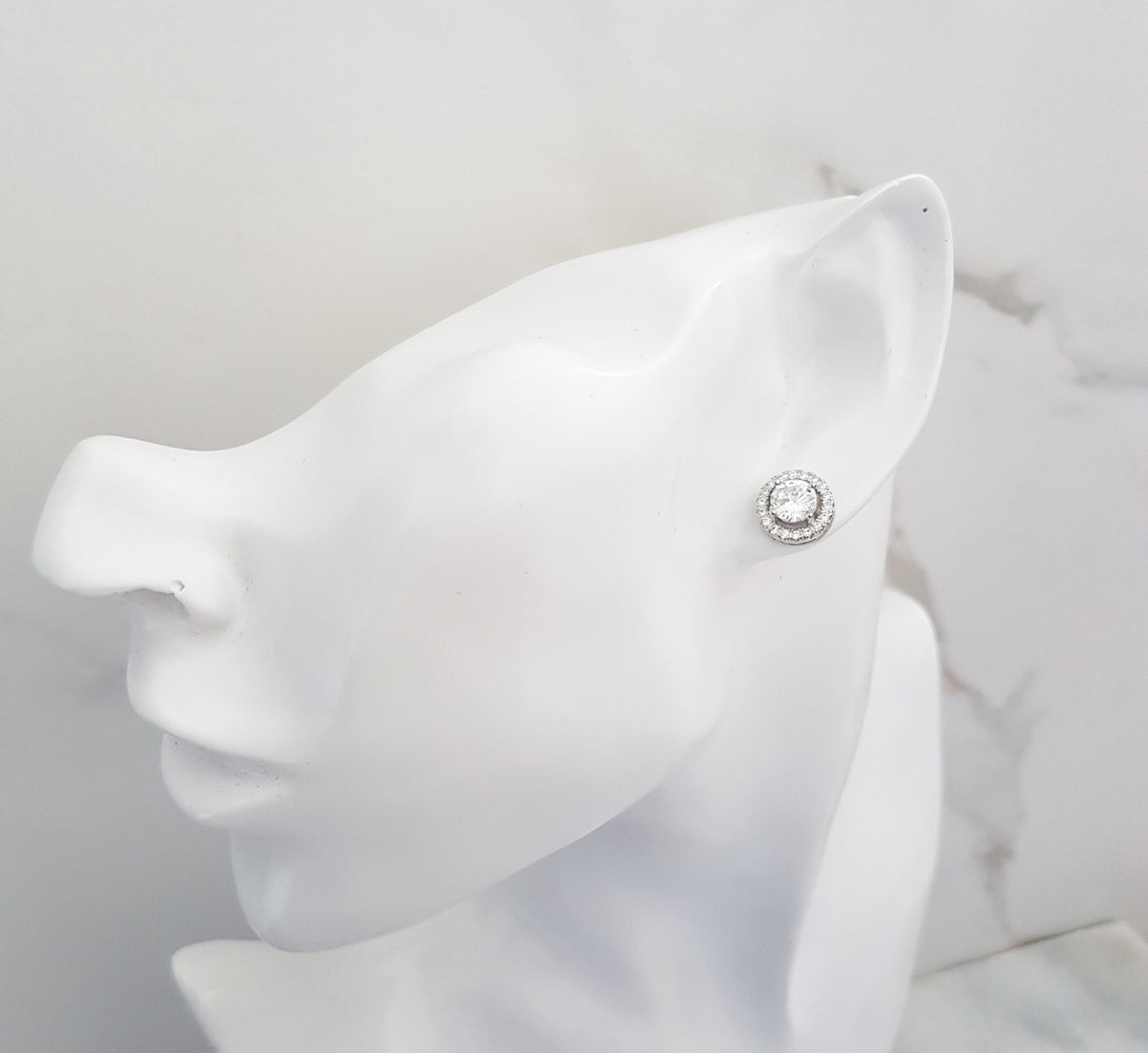 small platinum studs, bridesmaids gifts and bridal jewellery