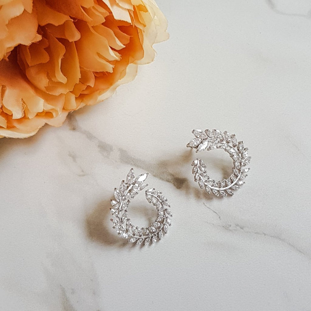 platinum silver womens earrings