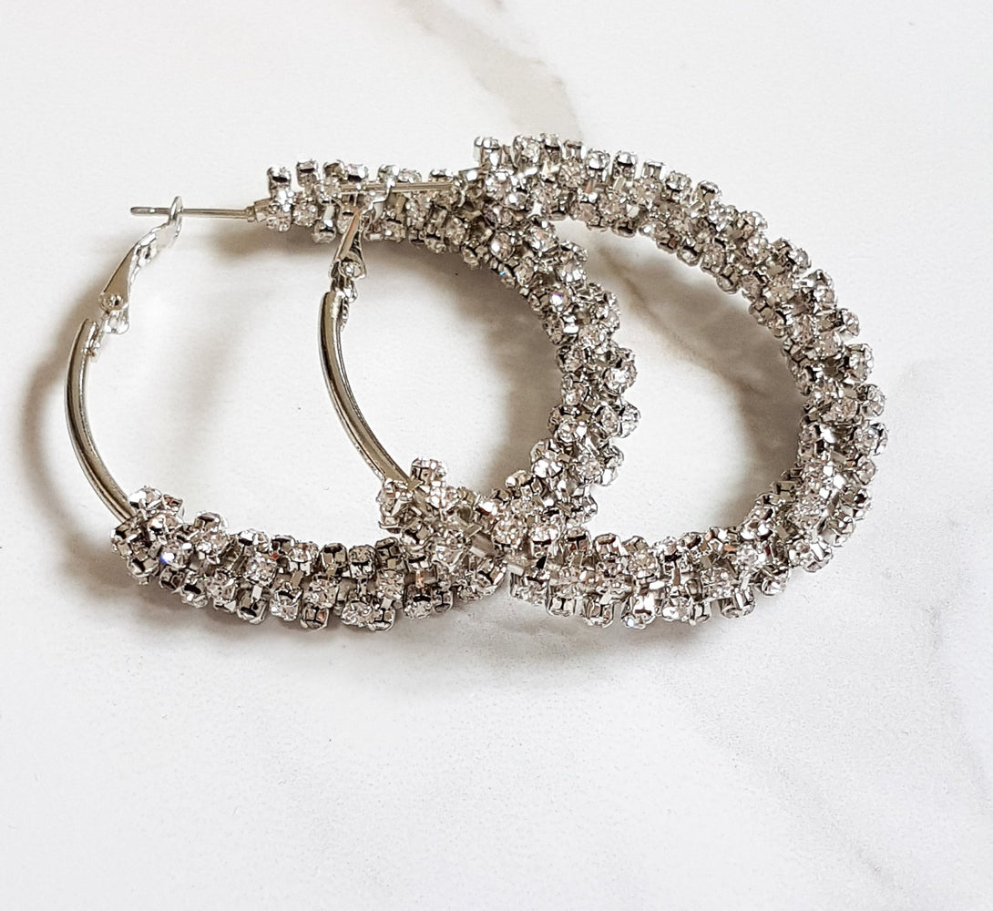 silver women's hoop earrings, statement hoop earrings