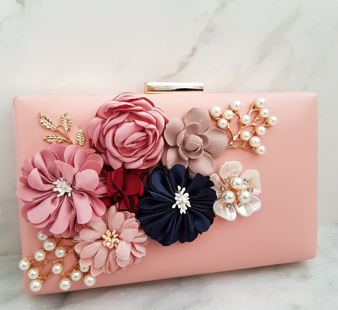 Pink Flower Clutch bag