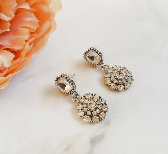 ROME Rhinestone Drop Earrings