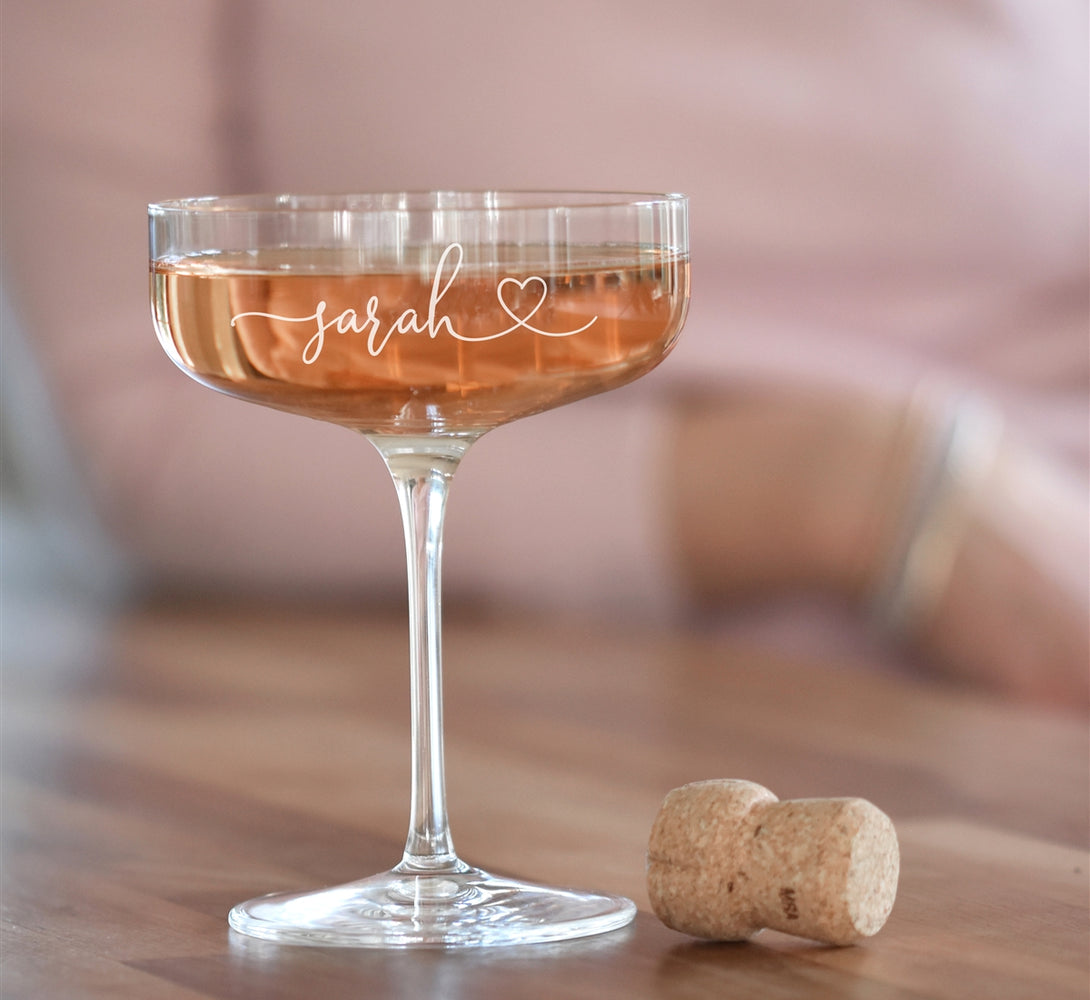 Personalised Champagne Coupe Glass