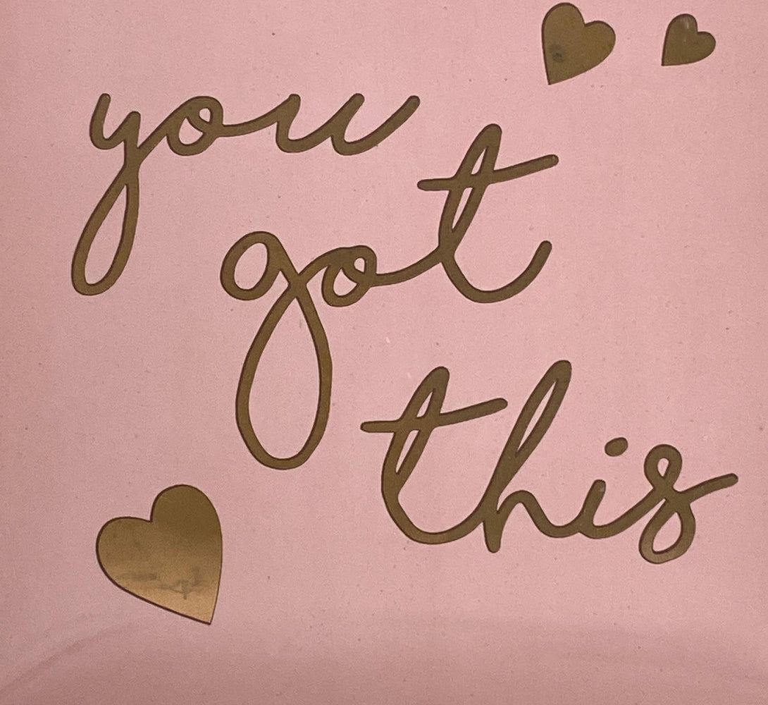 Pink & Gold 'You Got This' Trinket Dish