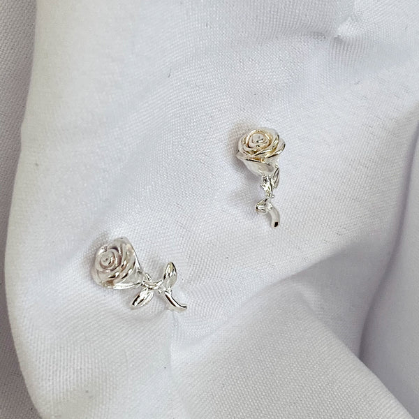 ALINA Rose Sterling Silver Stud Earrings ( Gold & Silver)