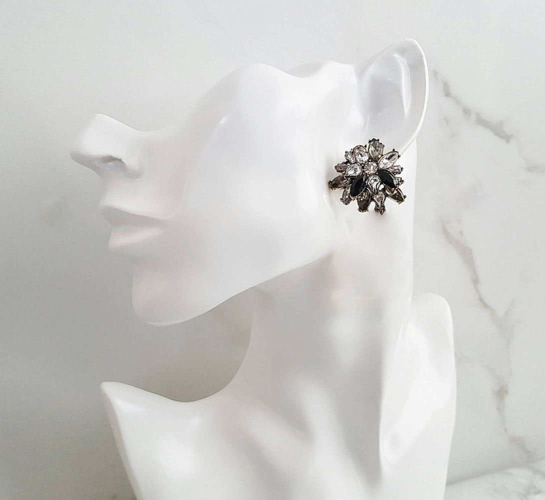 SADE Black Jewel Stud Earrings