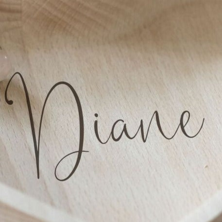 Personalised Wooden Heart Trinket Dish