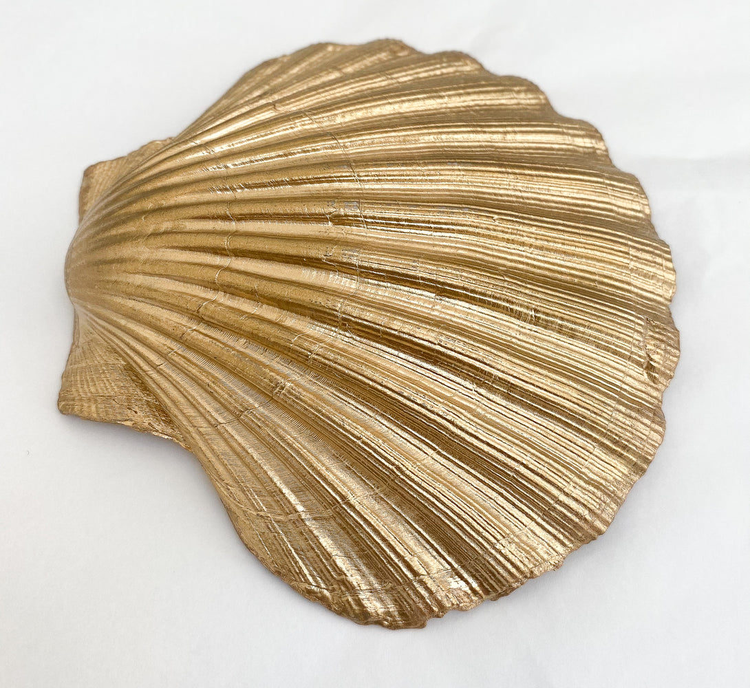 Gold Shell Ring Dish