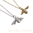 Bumble Bee Necklace (Gold & Silver)