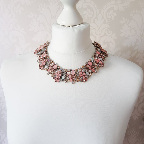 AMELLE Pink & Gold Statement Necklace