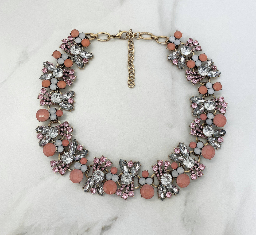 ANIYA Pink Statement Necklace