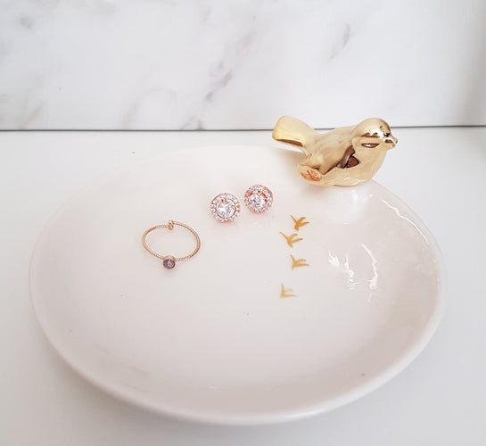 Gold Bird Trinket Dish