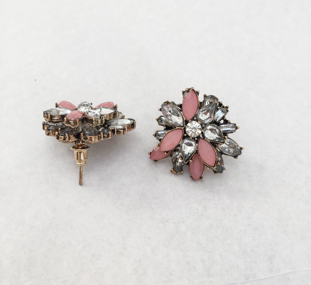 pink and gold girls earrings, gift ideas for her