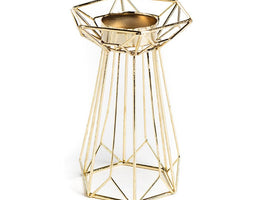 Gold Geometeric Tea Light Holder