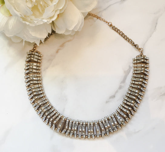gold rhinestone necklace