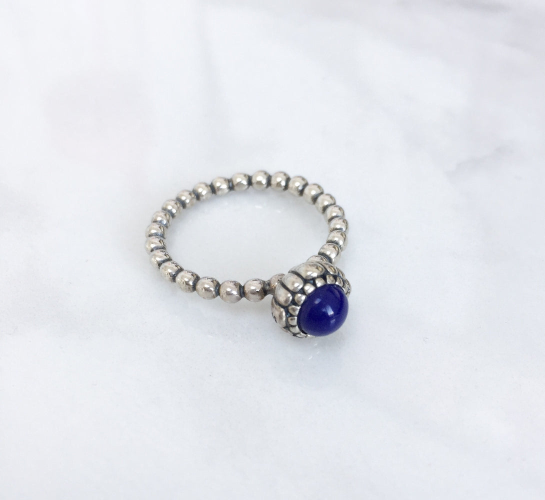 NOVA Sterling Silver Birthstone Ring (12 Colours)