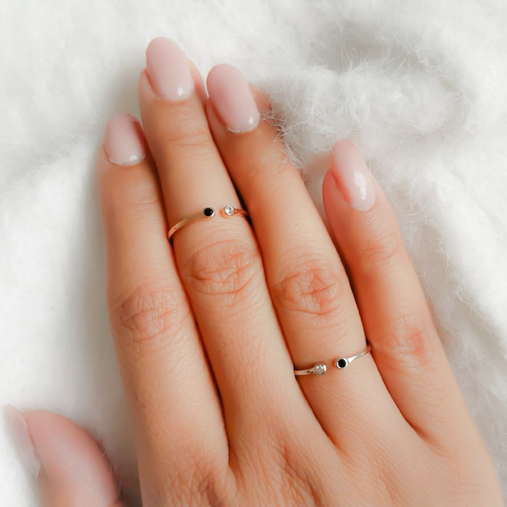 KIAN Minimal Ring - (Rose Gold & Silver)