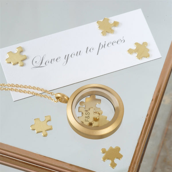 I love you to Pieces Gold Personalised Necklace