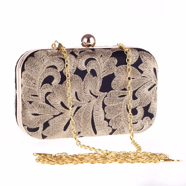 MALI Black & Gold Evening bag