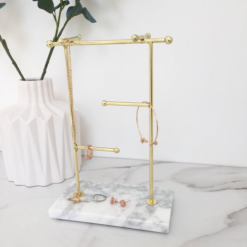 Large marble jewellery stand