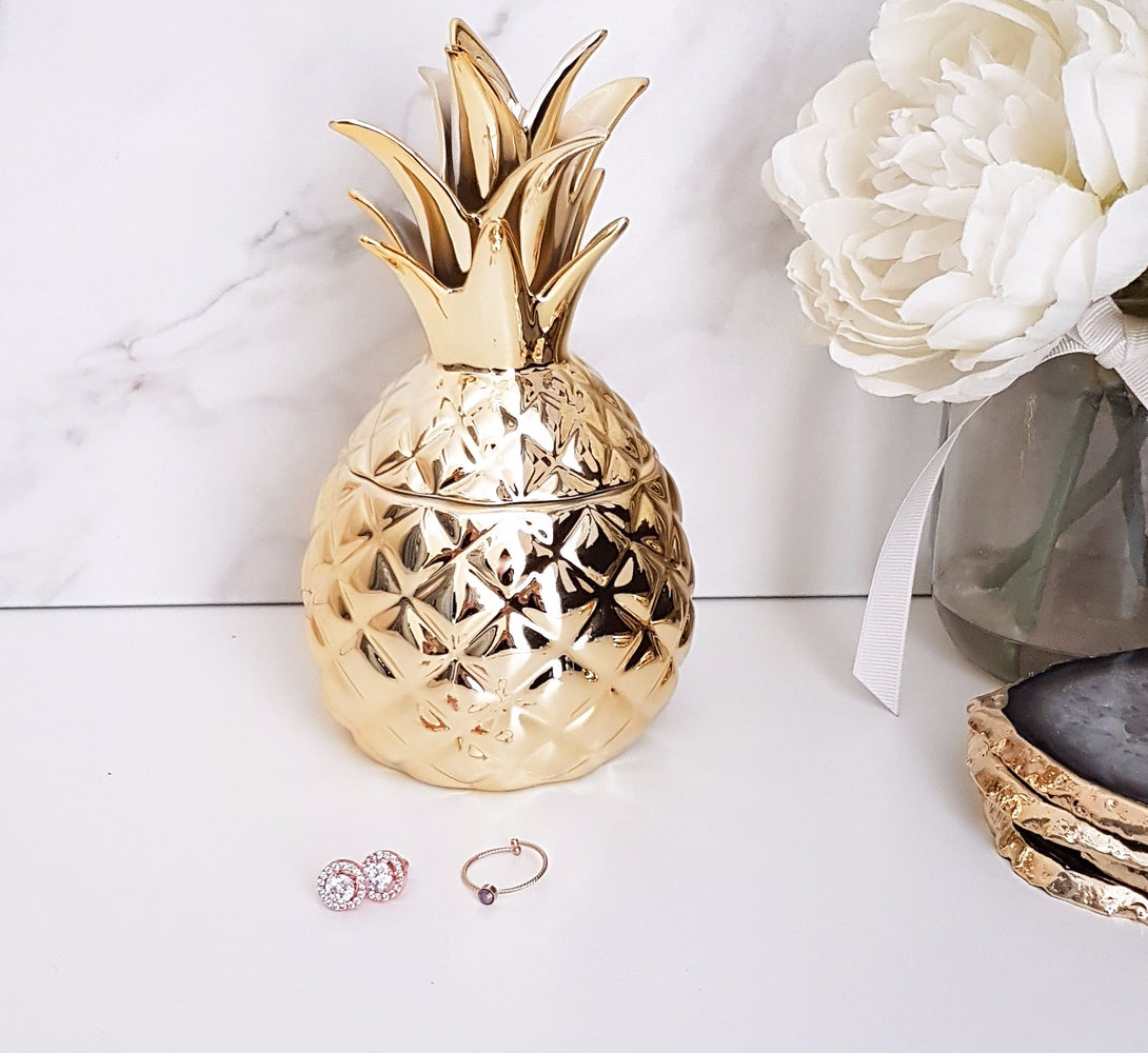 Gold Pineapple Storage Box - Not perfect but still beautiful
