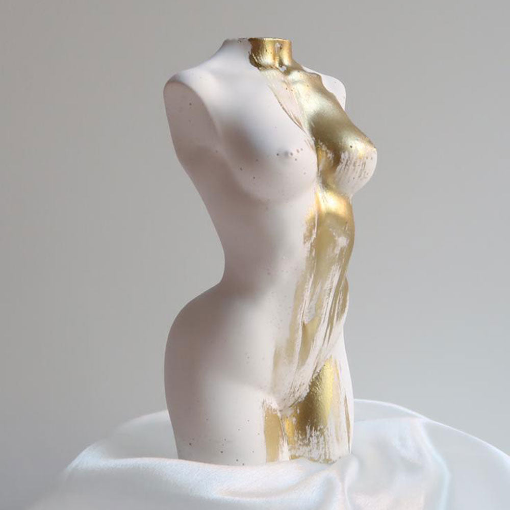 SAINTE Porcelain Lady Torso Sculpture (Gold / Silver)